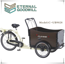 2015 Holland cheap 3 wheel electric tricycle cargo bike price/cargobike factory/kids cargo tricycle bicycle UB 9028