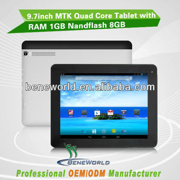 Supplying 9.7'' MTK8382/MTK8389 quad core 3g tablet pc with GPS&FM&TV&HDMI&Bluetooth