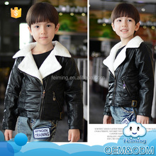 Wholesale baby clothes simple design good manners fashion warm winter kids fur coat with convenient pocket