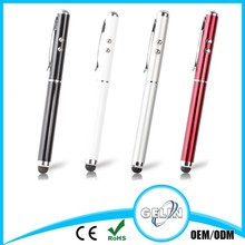 2014 metal ball pen with silicone touch stylus