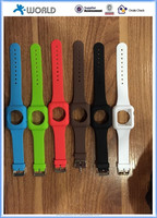 Made in Shenzhen Silicone rubber wrist watch strap for Apple watch