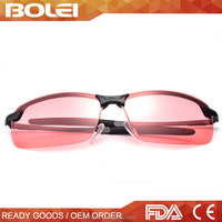 Night driving glasses with pink lens for men and women