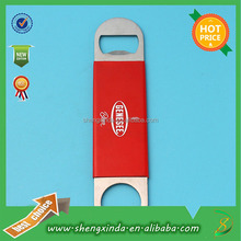 Customize Printed Logo Both Ends Red Handle Beer Opener