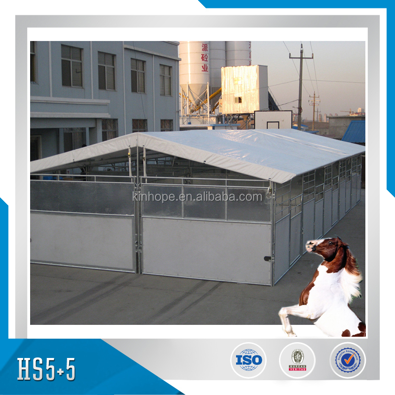 Mytesthot dipped galvanzied frame portable horse stall with sun-block roof