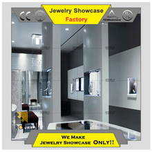 Hot 2015 unique jewelry showcases display cases jewellery shop cabinet for glass jewellery shop furniture