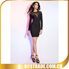 2014 formal bandage long sleeve junior black cocktail dresses