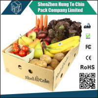 Color printing corrugate paper fruit salad box