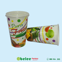 16oz paper disposable cup with lid