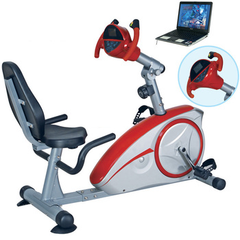 GS-8601RG Popular Nautilus Vital Fitness Recumbent Game Bike for Exercise