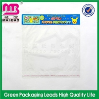 professional bespokenever rub off printing color self adhesive seal opp cellophane bag