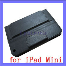 Plush inner Black PU Leather Case Tablet Bluetooth Keyboard for iPad Mini