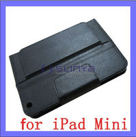 Plush inner Black PU Leather Keyboard for iPad Mini Bluetooth Case