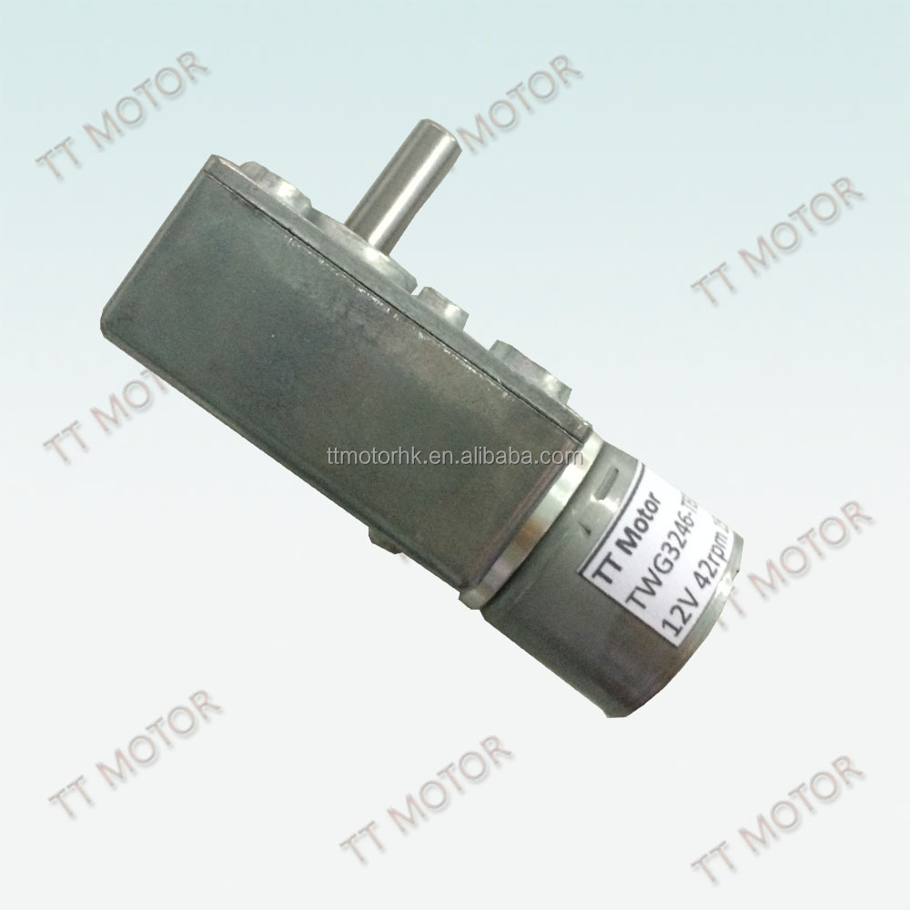worm geared electric 1500rpm high torque 12v dc motor