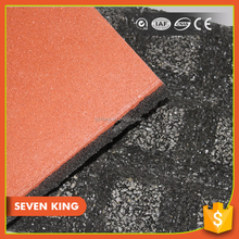 Qingdao 7king shockproof square rubber mould paver for playground pad