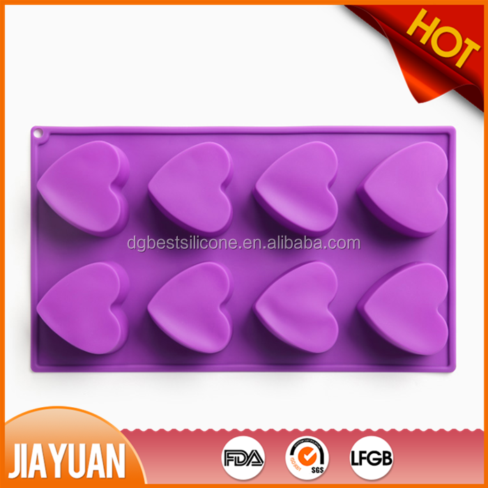 heart shape silicone soap mold & silicone cake mold body