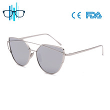 2017 Metal New Style Fashion Retro uv400 Cat Eye Sunglasses