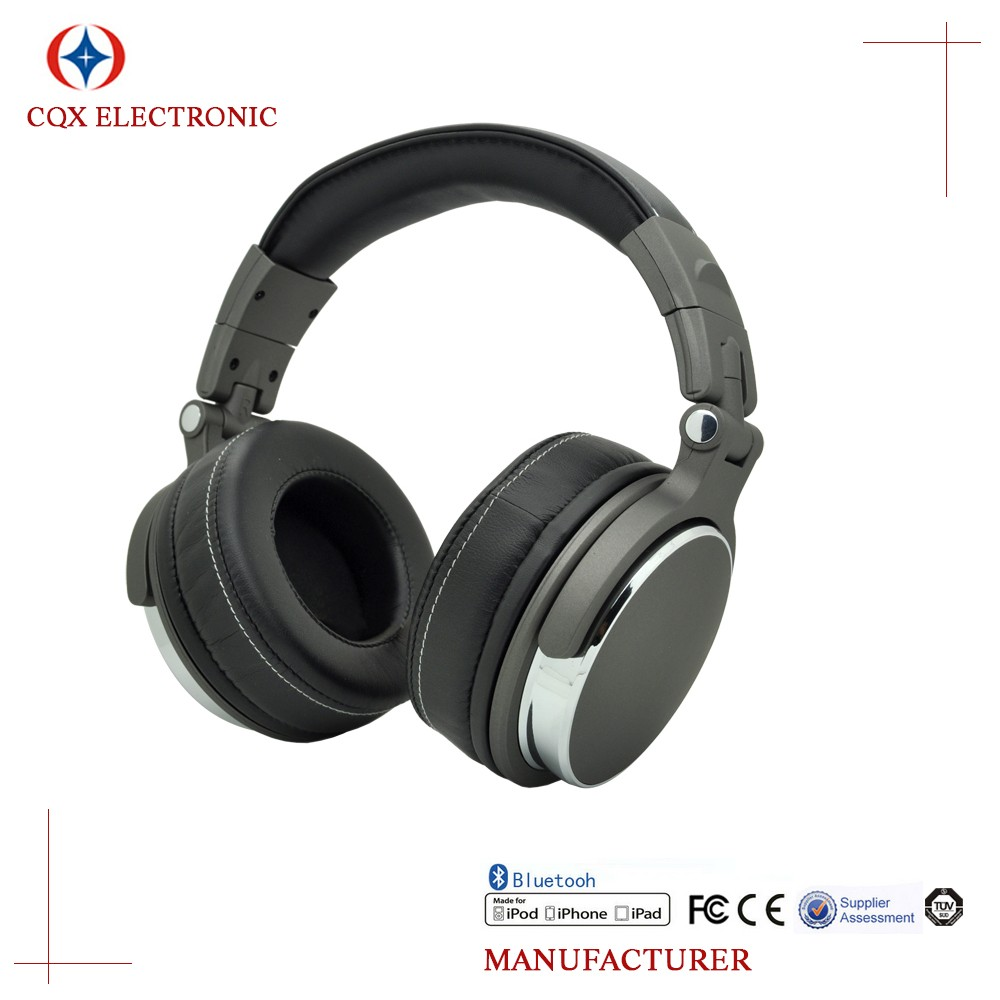 Active Over-ear Headphones HiFi Music Headset Detachable Cable With Inline Microphone