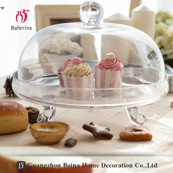 Custom cupcake stand for Christmas,cake stand with dome for party