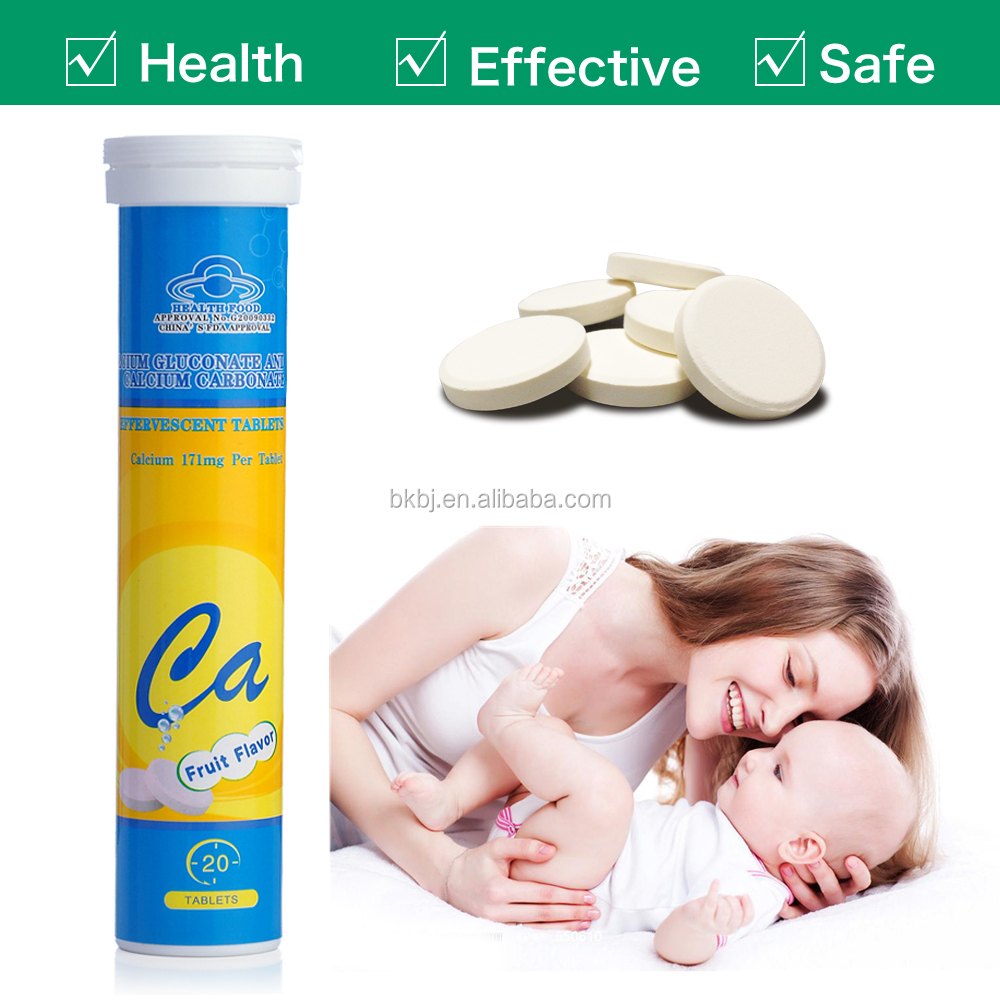 Functional Drink Calcium Effervescent Tablets and Calcium Chewable Tablets Manufacturer with GMP Certified