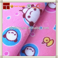 China hot sale 100% cotton deer print flannel fabric for baby