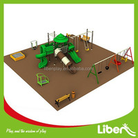 Garden Play Equipment With Playground Mats For Safety