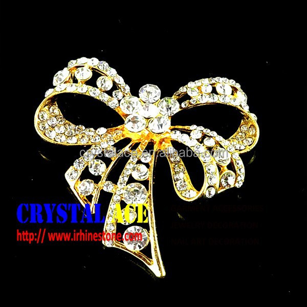 Rhinestone jewelry brooch,gold brooch from China brooch manufacturer