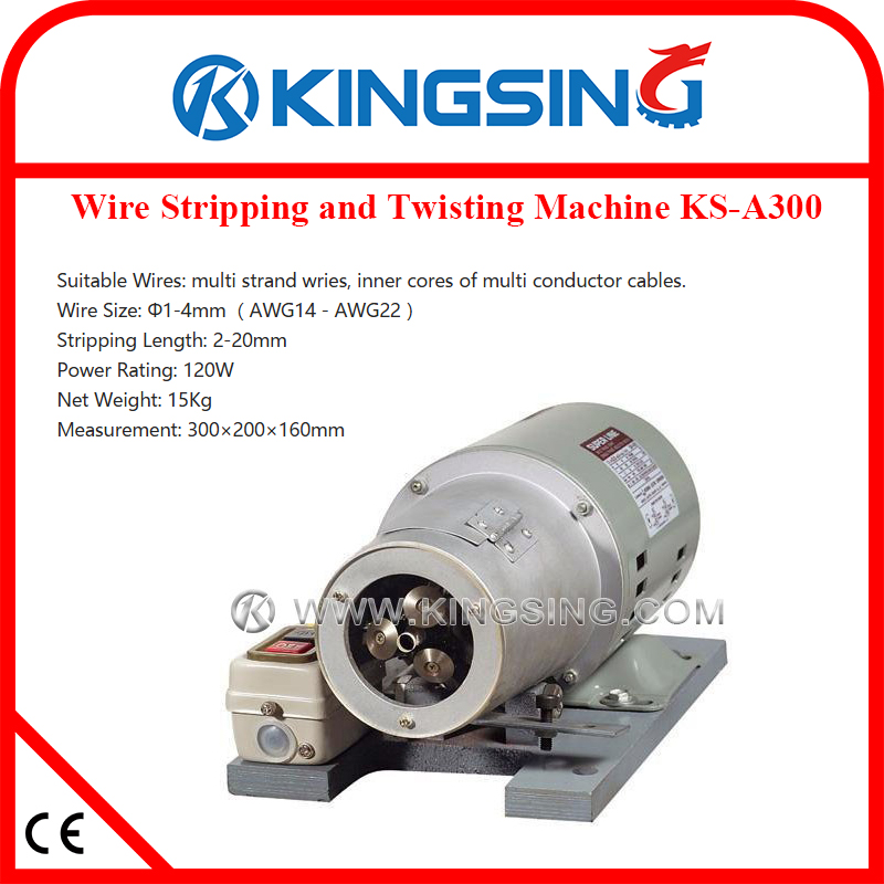 Semi-automatic Wire Stripping and Twisting Machine, Manual Wire Stripper Twister KS-A300
