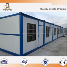 Easy assembly prefabricated container house with thermal insulation foldable