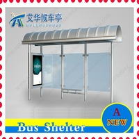 Stainless steel structure Bus shelter scrolling Advertising LED light box