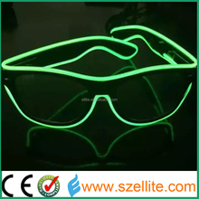 Hot selling high brightness flashing el wire glasses
