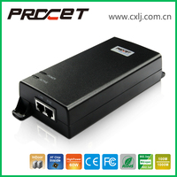 Gigabit Single Port Power over Ethernet 60W PoE Injector