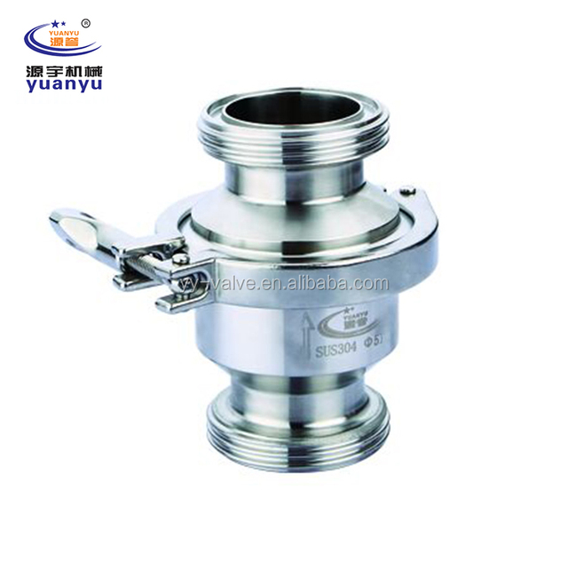 China high quality sanitary stainless steel SMS DIN 3A SS304 SS316L clamp check valve/non return valve