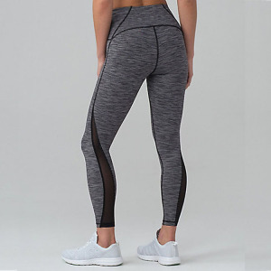 Lady's Mid-Waist w Hidden Pocket Sexy Mesh Fitness Training Gym Clothes