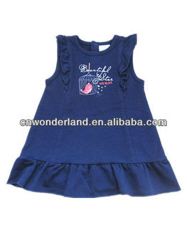 sleeveless baby girl dress designed