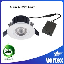 Factory directly aluminum heat sink 10W gimbal led down light for project