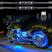 10pcs Wireless Remote Control Motorcycle Atmosphere Lamp rgb12v Flexible Strips Ground Effect Light for led Motorcycle light kit