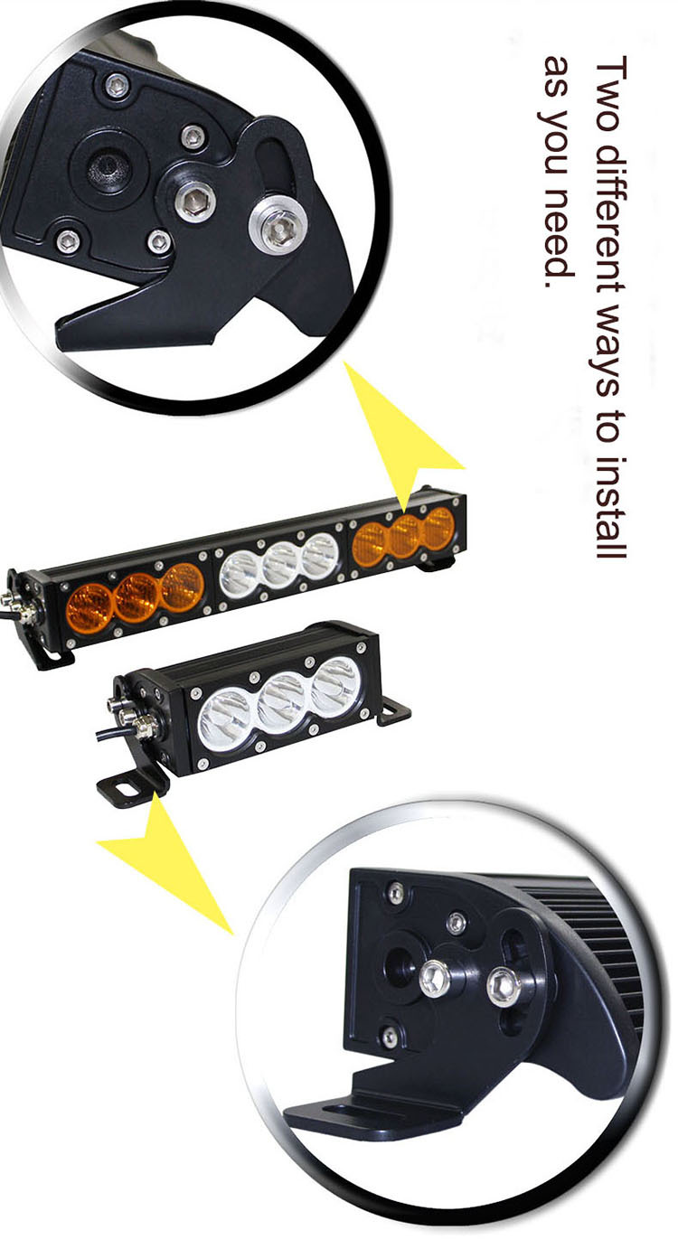 New product 23inch curved 120w single row led light bar off road lights amber strobe led light bar