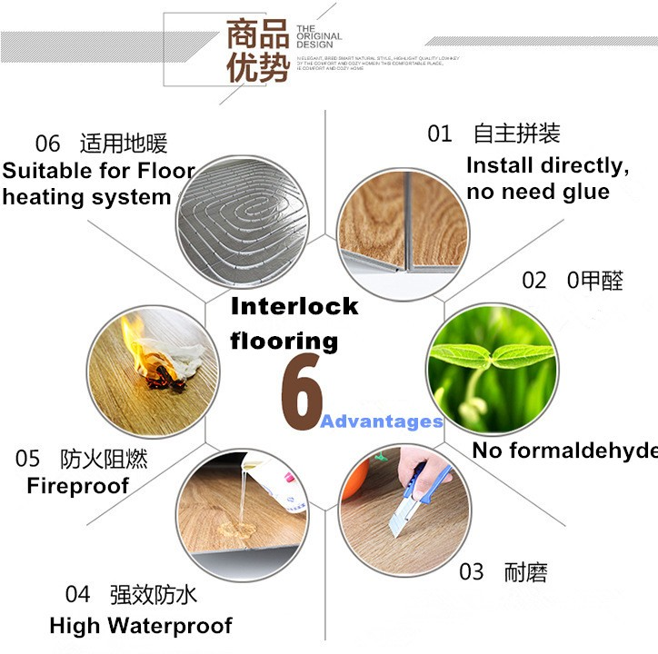 cheap price easy install waterproof pvc interlock flooring for commercial use