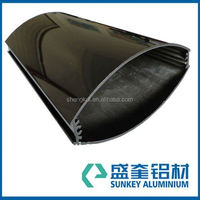 exporter and manufacturer of aluminium profile with anodize black surface treatment for aluminum light box profile