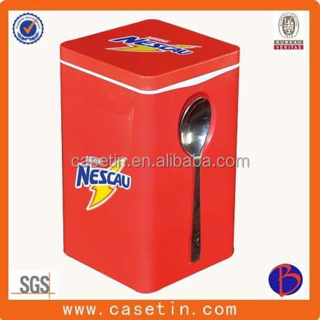 Square tin box metal container for candy cookie