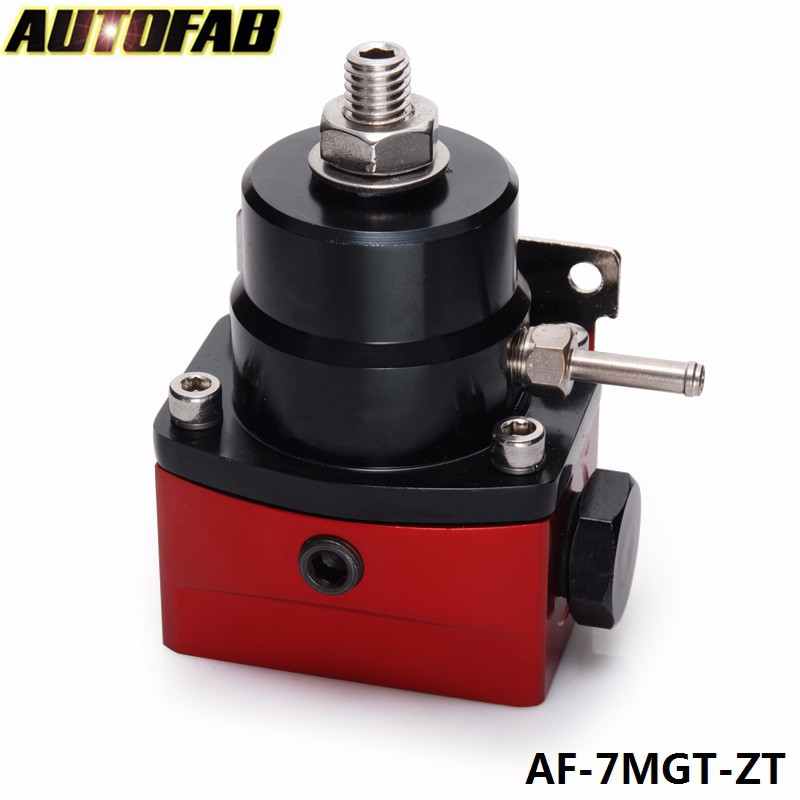 AUTOFAB - High Performance -6AN JDM Adjustable Black-Red Fuel Pressure Regulator 0-150PSI AF-7MGT-ZT