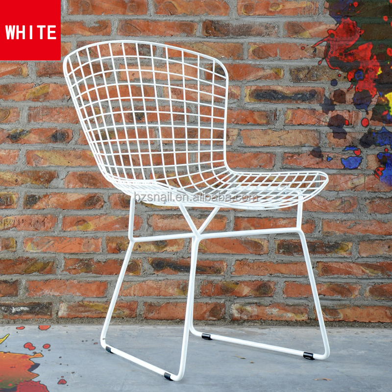 vintage strong and durable net outdoor replica bend dining metal steel wire chair
