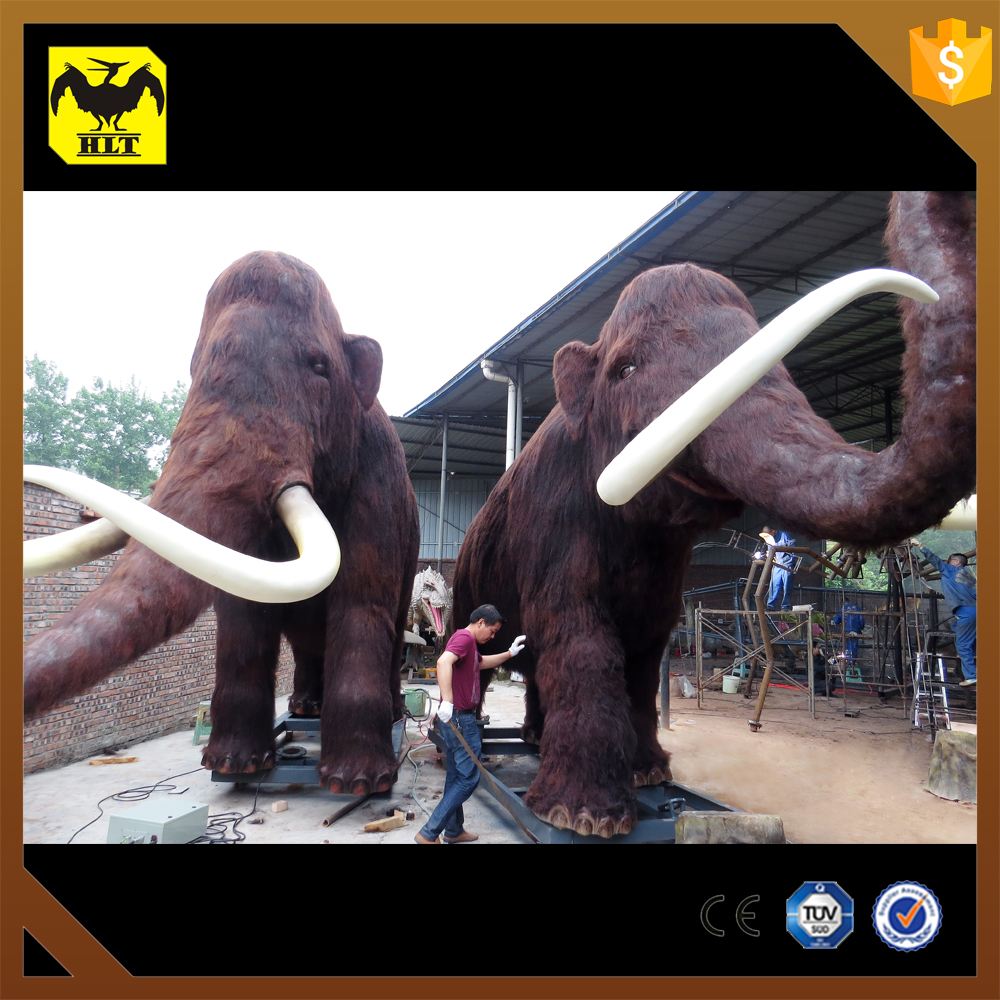 HLT simulation mechanical life size plastic animals mammoth
