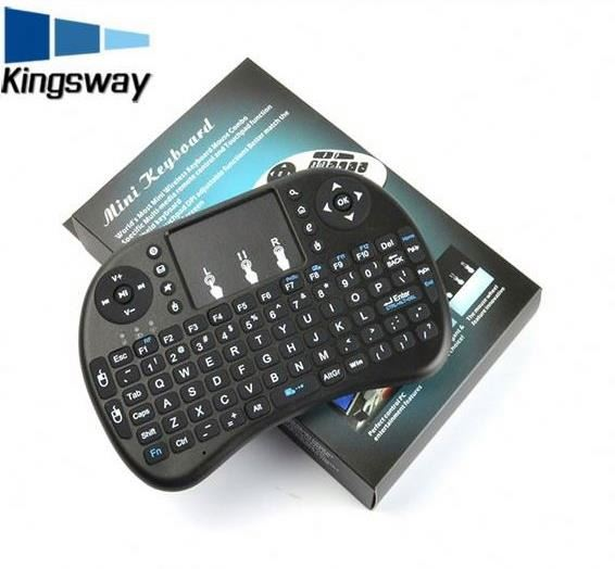 2017 New and popular 2.4G I8+ mini Wireless Keyboard Touch Pad mouse Backlit gaming Keyboard mini wireless keyboard