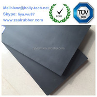 High density black foam rubber soundproof insulation roll