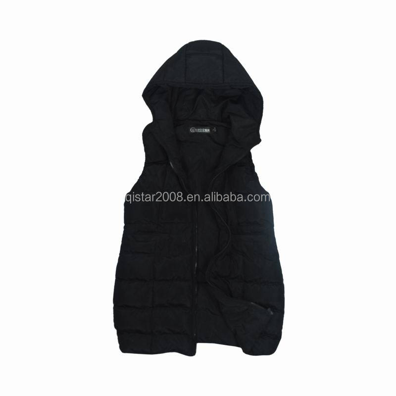 Hoodie Medium Length Cotton Padded Free Sample Vest Women