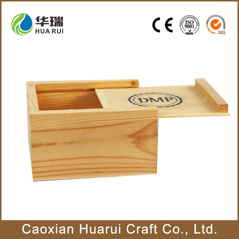 Art minds small wooden boxes wholesale with sliding lid decor home pine paulownia custom wood crafts
