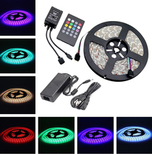 Wifi controlled SMD 5050 60led/m 5M /roll 9W Flexible LED Strip Outdoor/Indoor Decorative lights Waterproof 12v led light strip