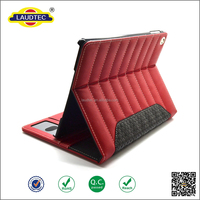 2015 high quality newest genuine leather case for ipad air