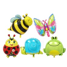Yiwu aluminium flying animals doll kids balloon